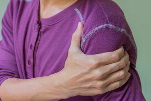 Minor Trauma man with shoulder pain
