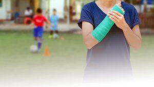 Minor Trauma sport broken arm gren cast