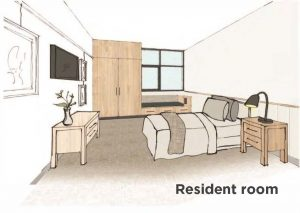 Resident room labelled